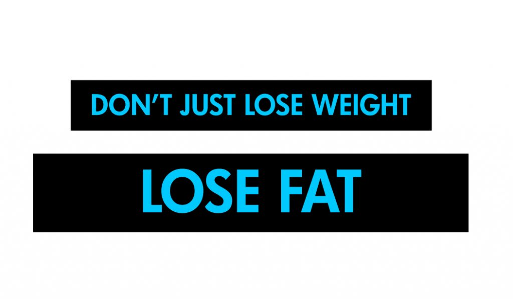 Don't just lose weight lose fat at the FitRoom